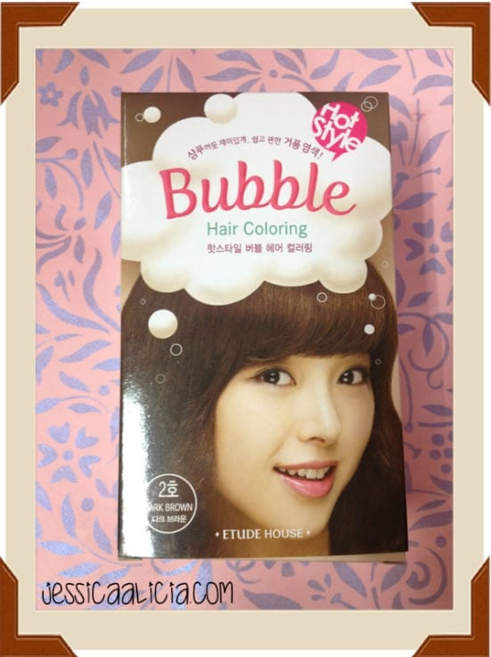 Review : Etude House Bubble Hair Coloring #2 Dark Brown