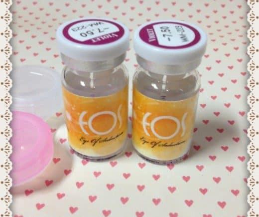 Review : EOS contact lens - Hikaru Violet #223