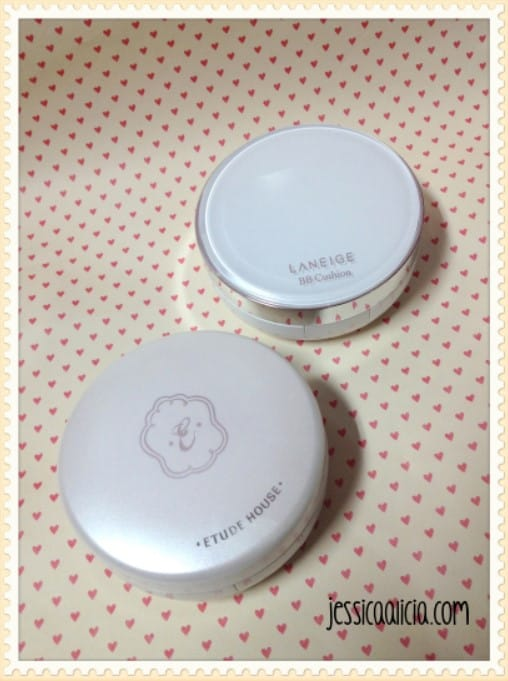 Comparison : Etude House Any Cushion & Laneige BB Cushion