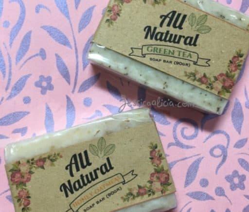 Review : Sabun alami dari All Natural Soap Bars by Jessica Alicia