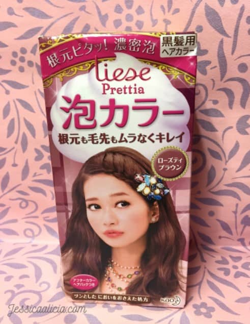 Review : Liese Prettia Creamy Bubble Hair Color – Rose Tea Brown