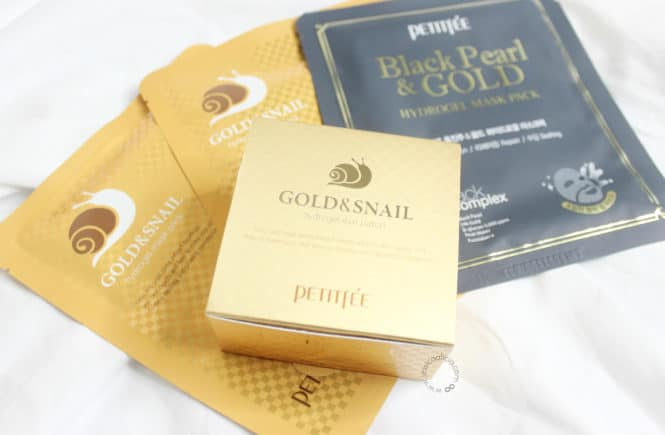 Review : PETITFEE GOLD & SNAIL HYDROGEL EYE PATCH + SHEET MASKS! by Jessica Alicia