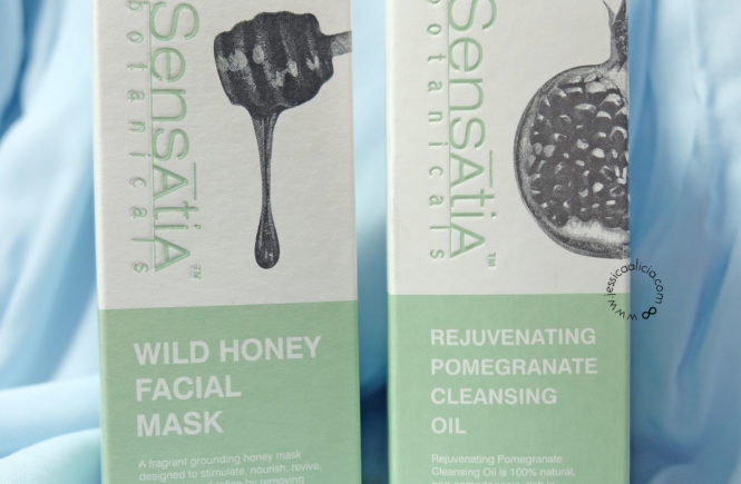 Review : Sensatia Botanicals Wild Honey Facial Mask & Rejuvenating Pomegranate Cleansing Oil by Jessica Alicia
