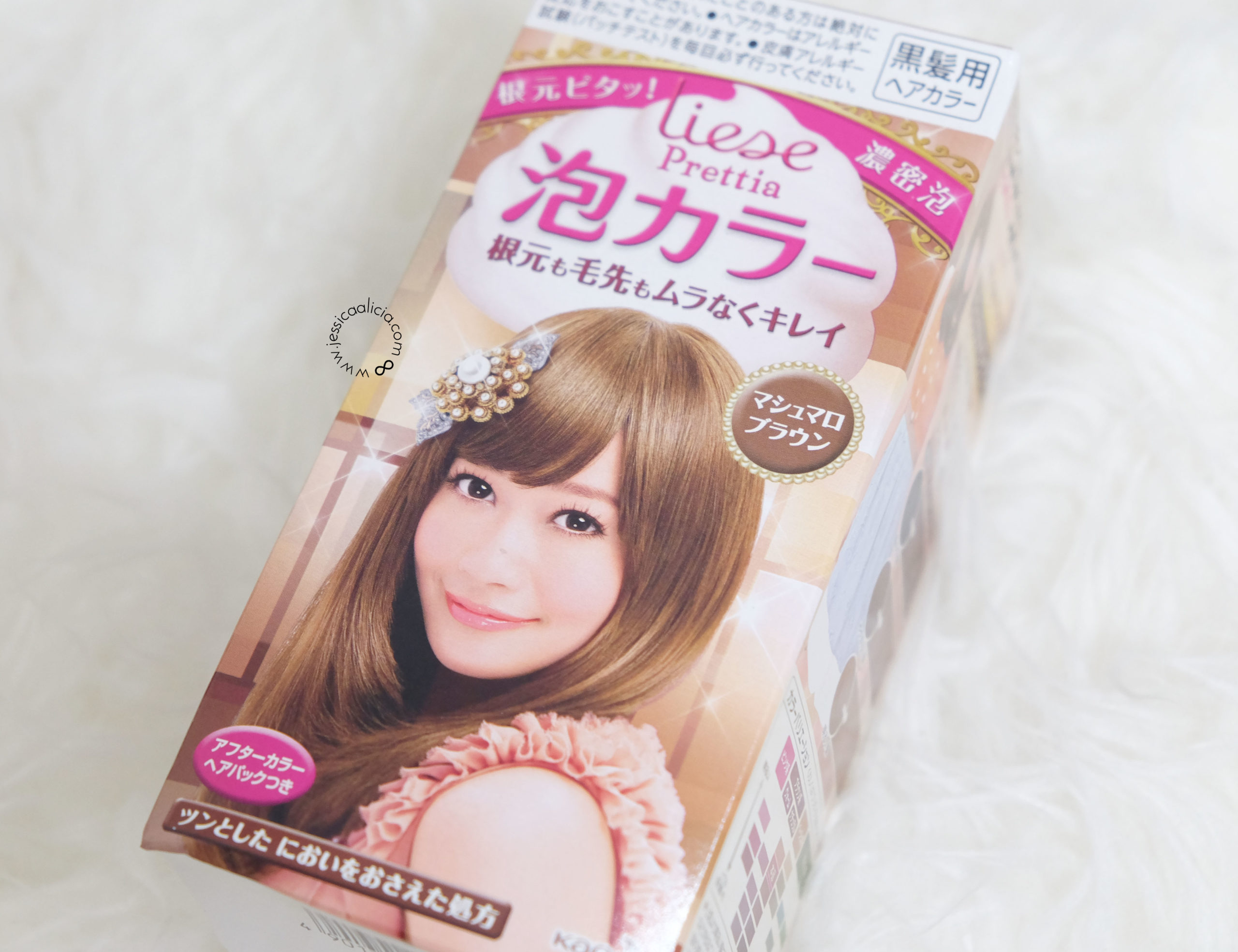Review : Liese Creamy Bubble Hair Color - Marshmallow Brown