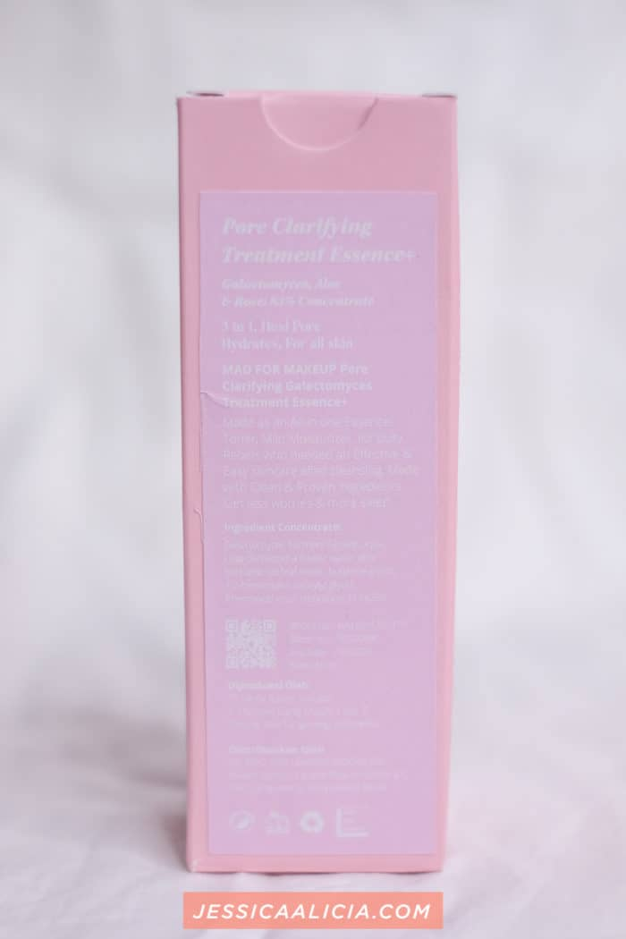 Review : Mad for Makeup Pore Clarifying Treatment Essence by Jessica Alicia